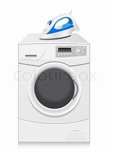 Symbole Auf Waschmaschine : symbole sind eine waschmaschine und b geleisen vektor illustration stock vektor colourbox ~ Markanthonyermac.com Haus und Dekorationen