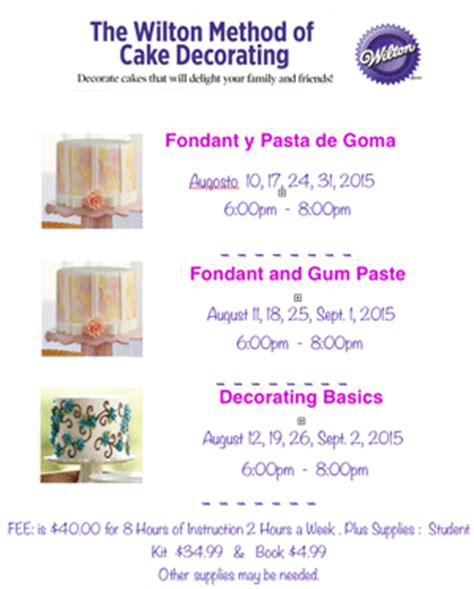 cake decorating supplies classes at create a cake las