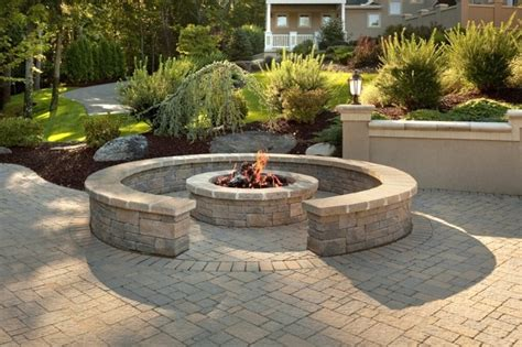 Fire Pit Round Bricks With Brick Patterns And For Curved