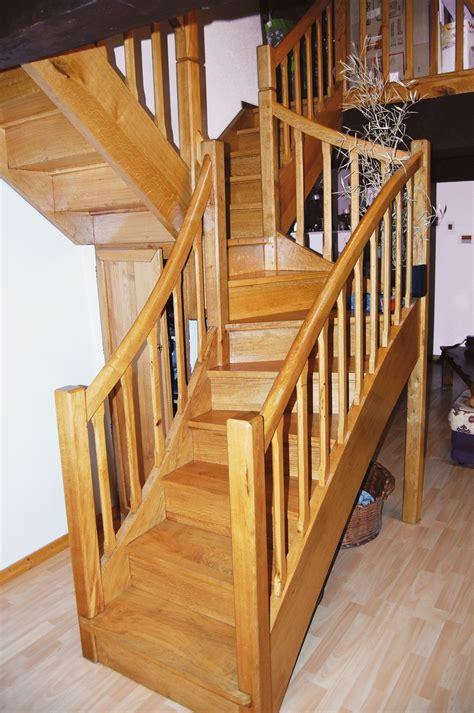 un escalier 224 quart tournant et vol 233 e bois le bouvet