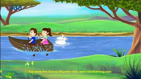 Row Boat Gently Down Stream by Row Row Row Your Boat Idaa Preschool Kids Rhymes Hd