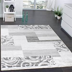 Teppich Wohnzimmer Grau : designer teppich wohnzimmer teppich kurzflor muster in grau creme preishammer alle teppiche ~ Markanthonyermac.com Haus und Dekorationen