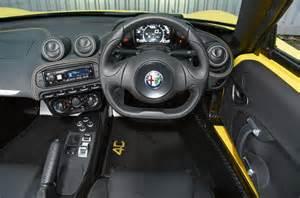 alfa romeo 4c spider interior autocar