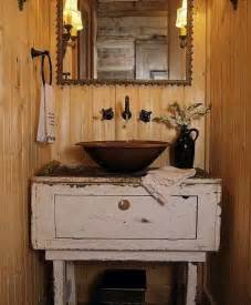 primitive sink country decor