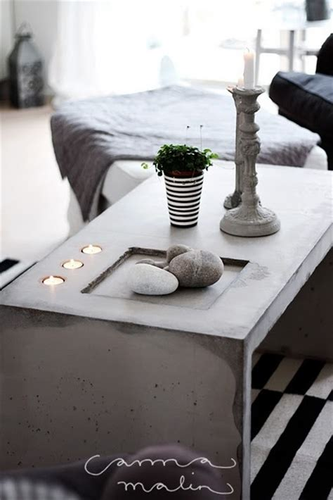 18 Diy Concrete Coffee And Side Tables