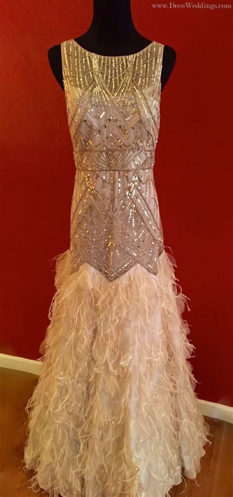 feather flapper gown sue wong deco shop