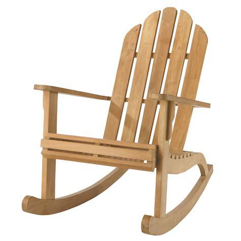 fauteuil de jardin 224 bascule teck providence maisons du monde