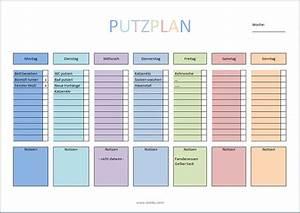 Wohnung Putzen Checkliste : putzplan vorlage f r singles paare familie wg ~ Markanthonyermac.com Haus und Dekorationen