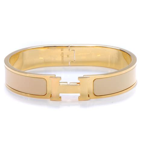 hermes enamel narrow clic clac h bracelet pm marron glace 50050