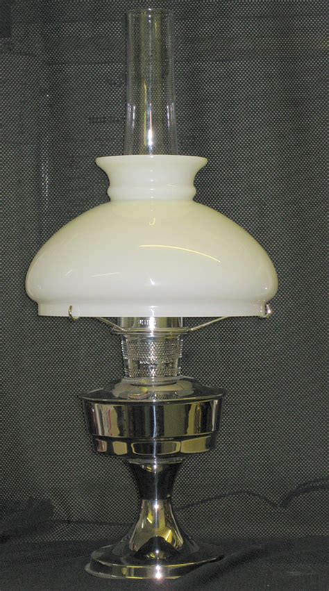 20 kerosene l wicks shop table l silcrom solid brass