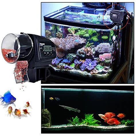 liqoo 174 distributeur automatique nourriture pour poisson rechargeable avec une minuterie d