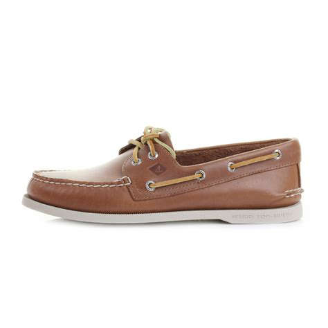 Tan Sperry Boat Shoes by Mens Sperry Authentic Original A O 2 Eye Tan Leather Boat