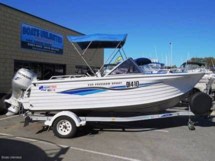 Boats Perth Gumtree by Quintrex 540 Freedom Sport Four Stroke Outboard Great