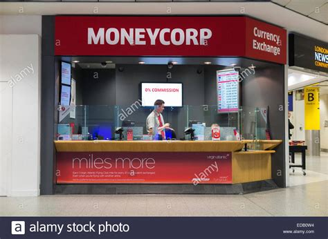 bureau de change office operated by moneycorp south terminal gatwick stock photo royalty free