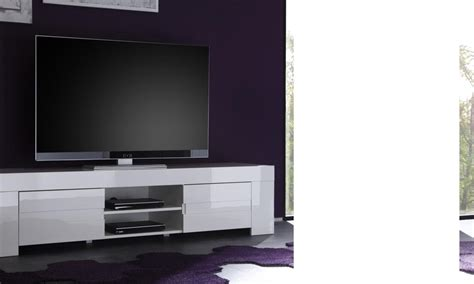 meuble tv hifi design elios coloris blanc laqu 233 disponible en 2 dimensions