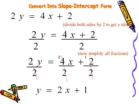 slope intercept form practice practice converting linear equations into slope intercept