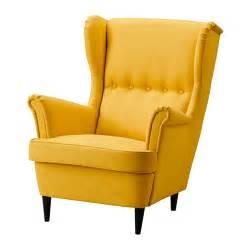 strandmon wing chair skiftebo yellow ikea