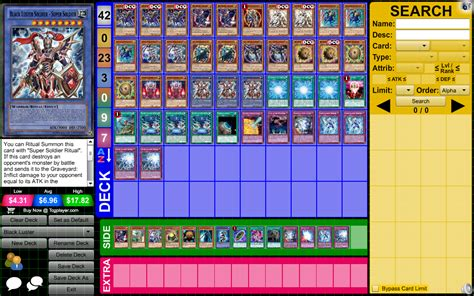yu gi oh archetype profile deck black luster by