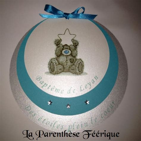 faire part rond bapt 234 me gar 231 on ou naissance th 232 me nounours