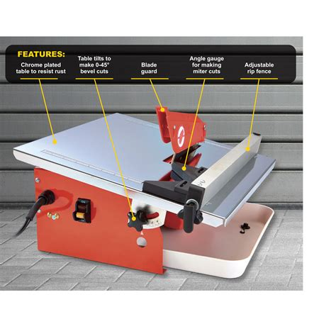7 quot portable cutting tile saw