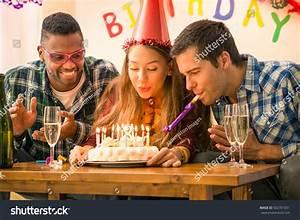 Girl 18th Birthday Party Happy Multiracial Stock Photo ...
