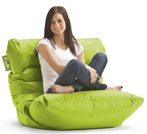 big joe roma spicy lime smartmax bean bag chair from