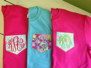 LONG SLEEVE Monogrammed Pocket Tee - Lilly Pulitzer Fabric ...