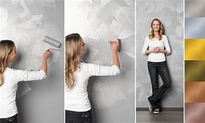 Effekt Farbe Streichen : effektfarbe f r die wand glitteroptik sch ner wohnen ~ Markanthonyermac.com Haus und Dekorationen