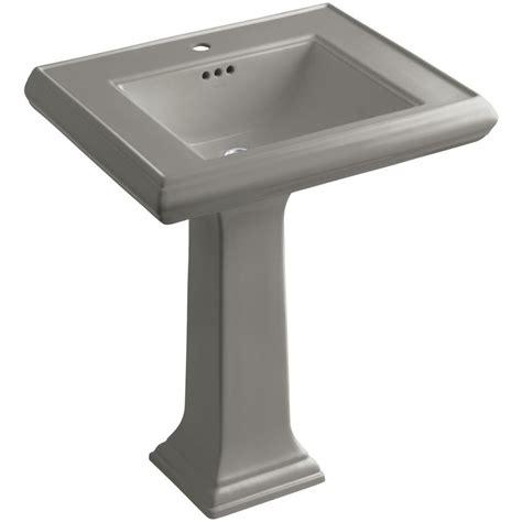 kohler memoirs ceramic pedestal bathroom sink in