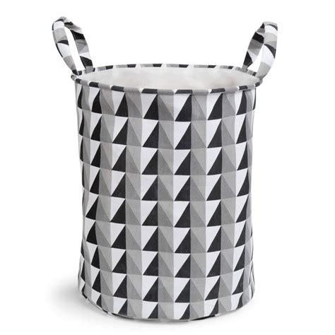 panier 224 linge en tissu noir blanc graphique maisons du monde