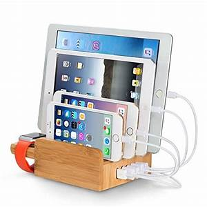 Ipad Iphone Ladestation : chargeurs bureau bambou ~ Markanthonyermac.com Haus und Dekorationen