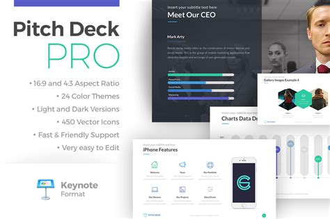 pitch deck pro keynote template presentation templates on creative market