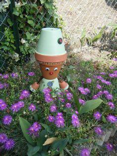 1000 images about personnages en pot de terre cuite on pots clay pots and clay pot