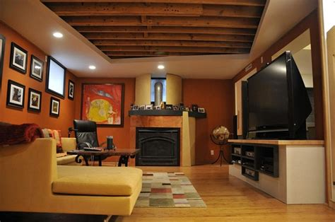 attractive painting unfinished basement ceiling ideas modern ceiling design ideas