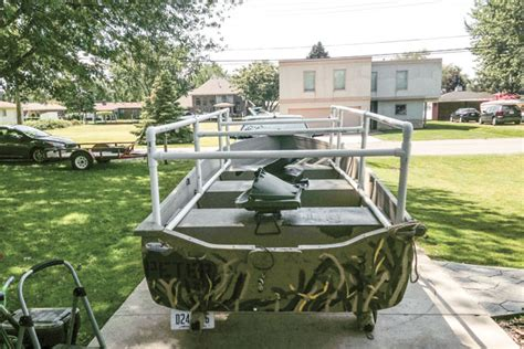 Duck Hunting Boat Build by Building A Duck Boat Blind On A Budget Wildfowl