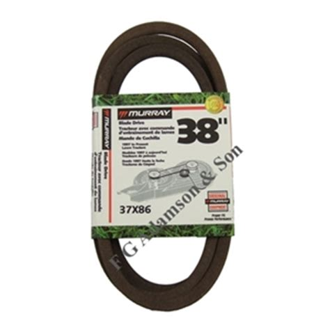 murray cutter deck belt 37x86 murray lawnmower belts