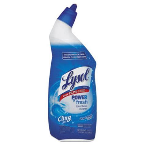 lysol brand power fresh toilet bowl cleaner cling gel