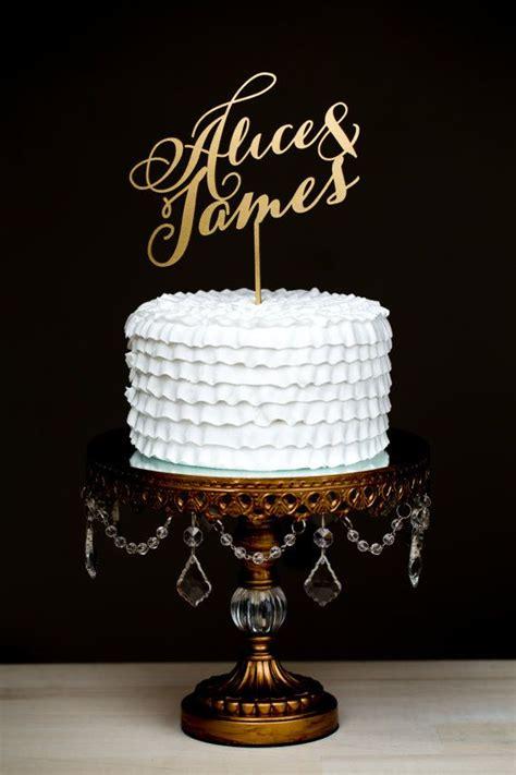 wedding cake topper custom names gold 2049906 weddbook