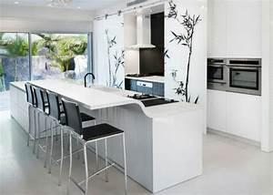 Schwarze Arbeitsplatte Küche : 25 arbeitsplatten f r k chen die sie mit ihrem design faszinieren ~ Markanthonyermac.com Haus und Dekorationen