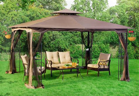 Mosquito Net Canopy For Outdoor Umbrella by Patio Gazebo Canopy Mosquito Netting 10x12 Patio Garden