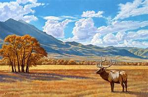 Fall In Paradise Valley Painting by Paul Krapf