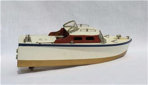 Battery Powered Toy Boat by Vintage Rico Battery Powered Wooden Model Toy Boat W Box