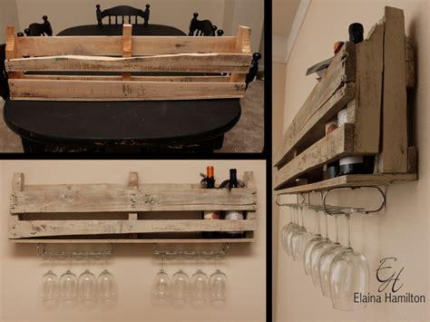 diy wine rack with stemware storage elaina hamilton