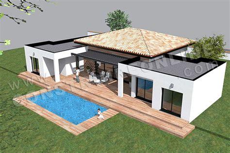 plan de maison moderne template