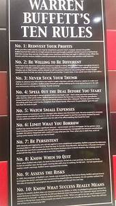 Warren Buffet's 10 Rules Of Success I also saw this in a ...
