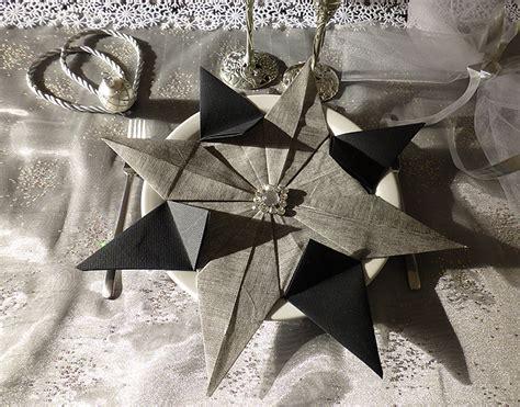 pliage de serviette de table en forme d 233 toile etoile en papier origami napkin folding