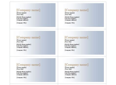 Avery 5371 Business Card Template. Avery Two Sided