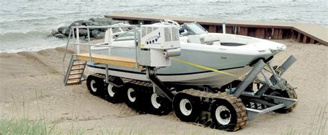 Best Boat Trailer For Beach Launching hibious boat launching system motorised remotely
