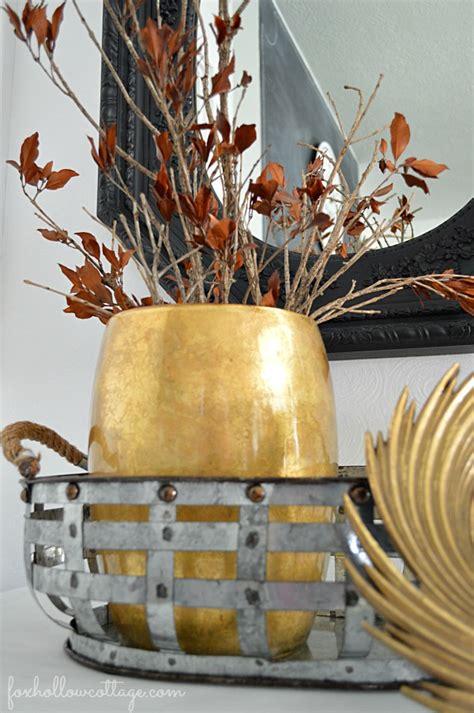 budget friendly fall decorating ideas mixed metals fox