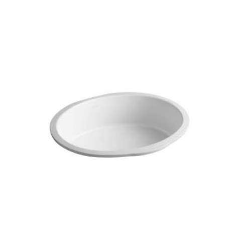 kohler verticyl oval undermount bathroom sink in honed
